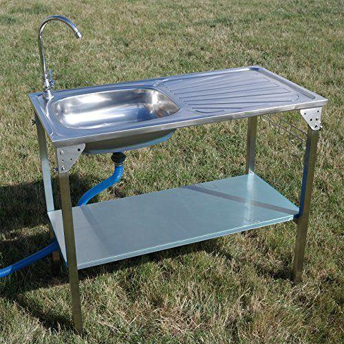 Stainless Steel Camping Sink Basin Draining Board Outdoor Https Www Amazon Co Uk Dp B013thc35a Ref Cm Sw Cocinas De Lujo Aparatos De Cocina Cocina Hermosa