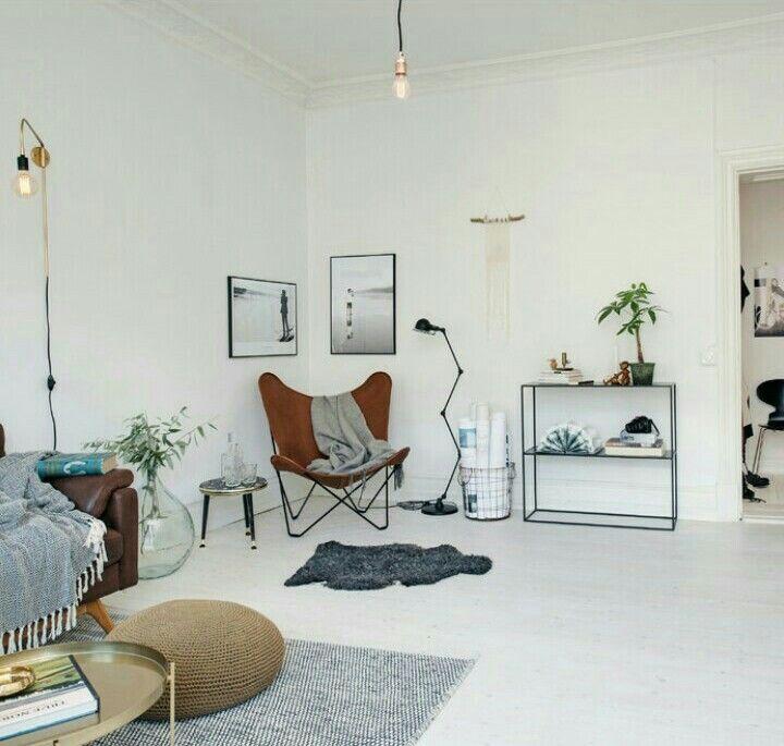 Norra Agnegatan : houzz Idée d\'aménagement de salon ambiance rétro ...