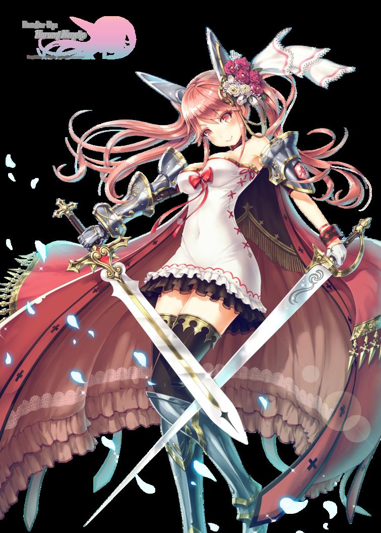 Anime Characters Use Dual Swords : Anime art sword girl render by harumi neneko on deviantart