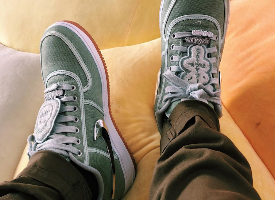 The Travis Scott x Nike Air Force 1 Low Surfaces In Cactus Vert