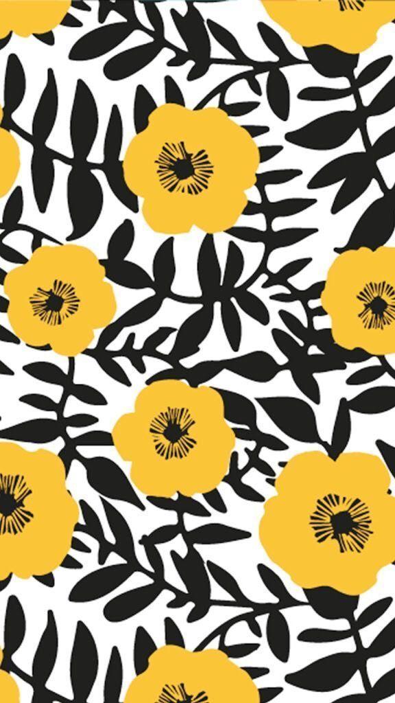 Photo of tolle Kombi aus schwarz-weiß mit gelb! – Saines #flowerpatterndesign tolle Komb…