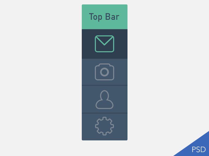Flat UI - top or side menu by Jitendra (@berdejitendra on