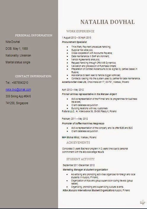 download resume format in word Sample Template Example ofExcellent - Cv Example