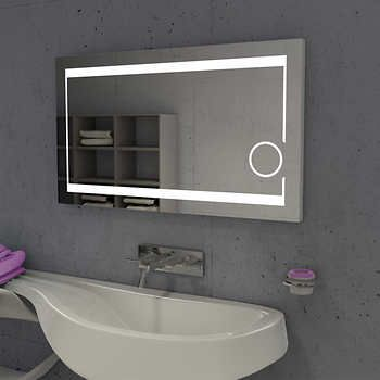 Suite Mirror 48 in. x 28 in. LED Illuminated Mirror with ...