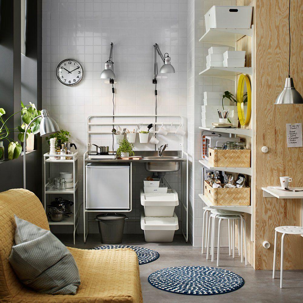 10 petites surfaces à copier   Kitchenette, Small spaces and Paris ...