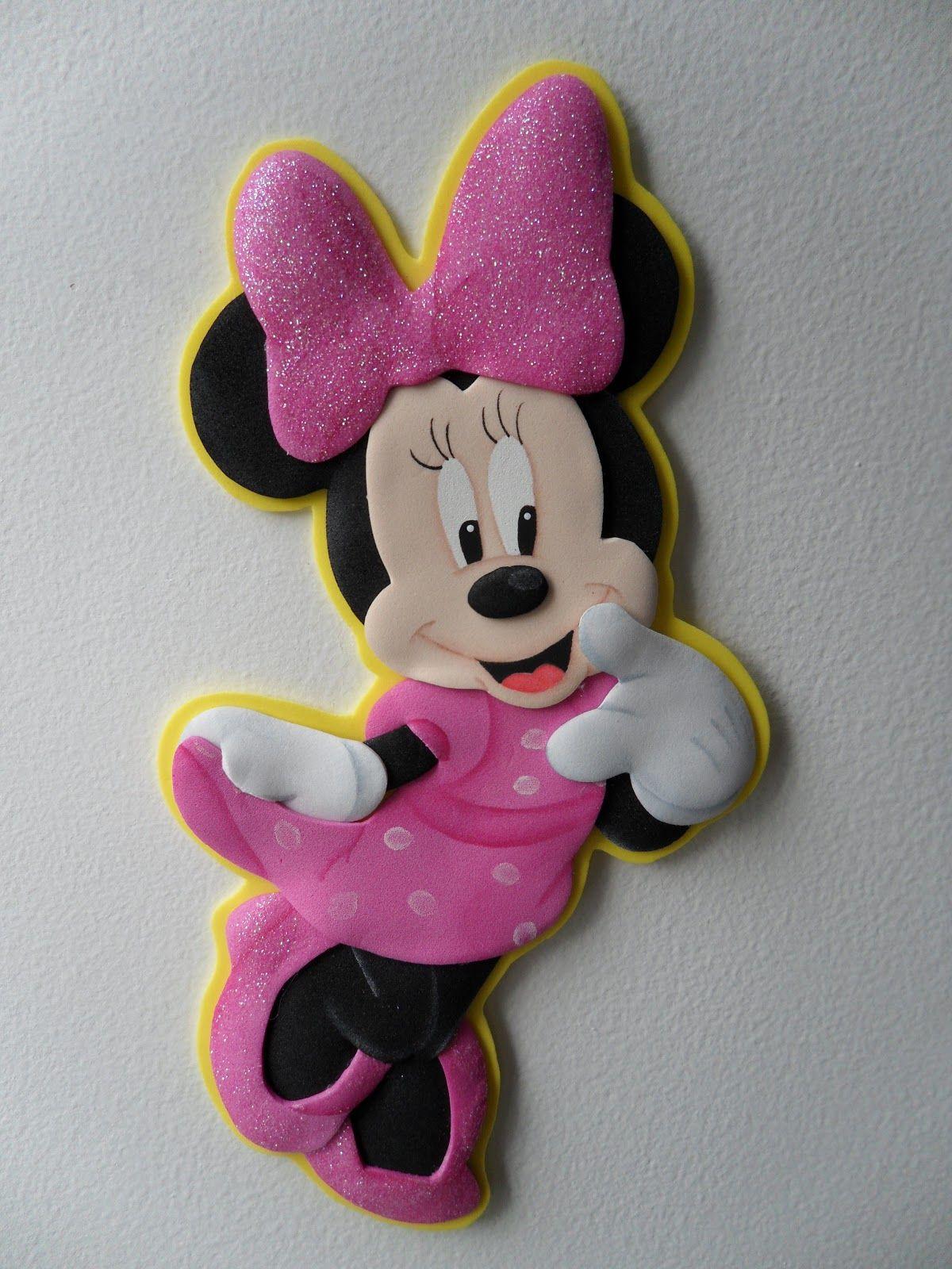 El taller de nana minnie molde rosa pinterest - Manualidades minnie mouse ...
