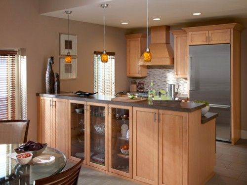 Small Open Galley Kitchen extra island cabinet storage! | .kitchen. | pinterest | galley