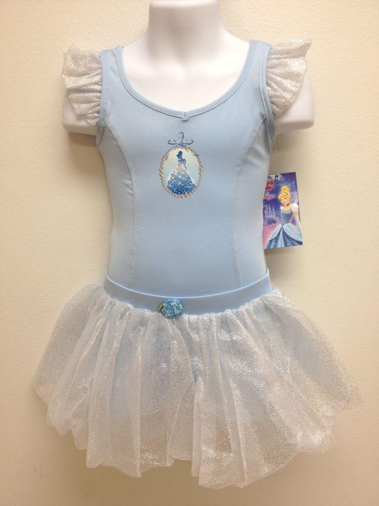 3f14df12a Capezio Disney Princess CINDERELLA Ballet Outfit Leotard   Tutu-BLUE ...