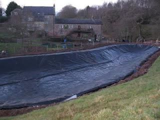Large pond liners needed to make a wide fish pond pond for Building a pond with liner