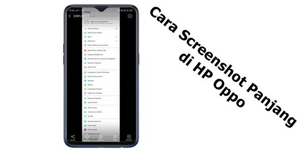 5 Cara Screenshot Panjang Di Hp Oppo Tablet Aplikasi Web Aplikasi