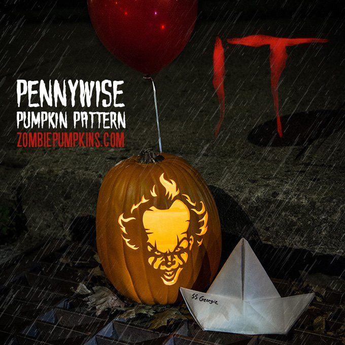 Image Result For Pennywise Pumpkin Pumpkin Carving Zombie Pumpkins Pumpkin Carving Patterns