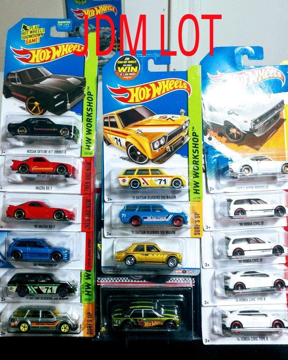 Nice Awesome Hot Wheels JDM Lot Datsun Honda Nissan Gtr k-mart Wal