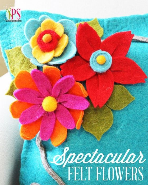 my favorite~~~DIY felt flower pillow, you can decorate your house. - Fashion Blog