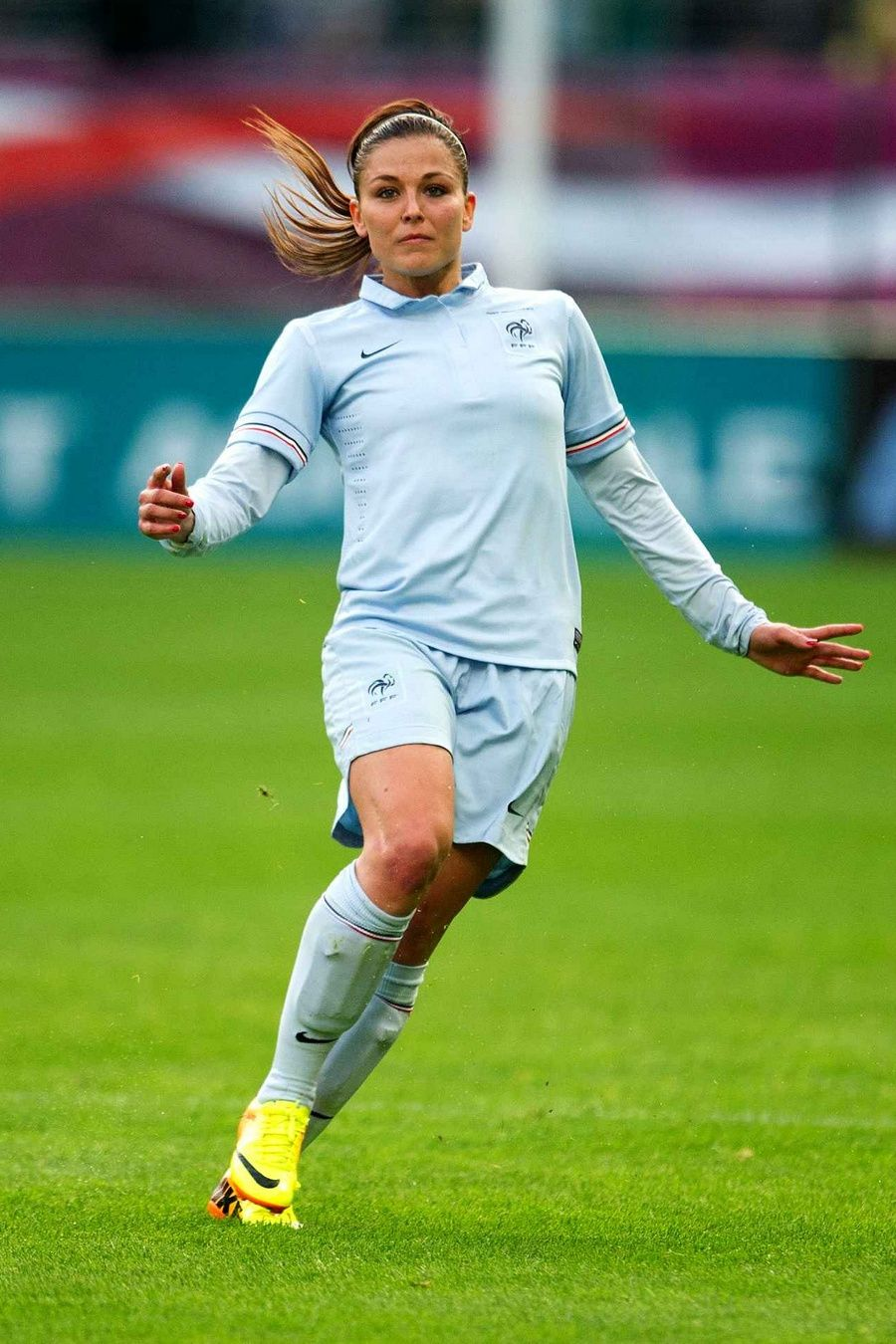 Laure Boulleau France In A Friendly Match In 2013 Football