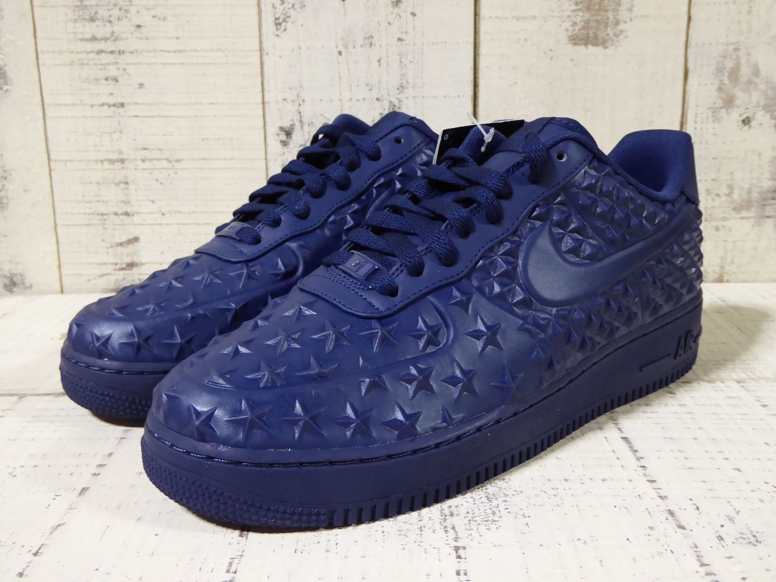 Men's Nike Air Force 1 Low LV8 VT Star Independence Day Midnight Navy Sneakers : M86g2049