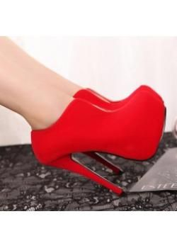 Fashion new style womens ankle boots  red