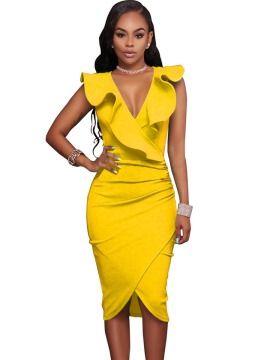 Vogue Solid Color Sleeveless Bodycon Dress Cosas Que Ponerse En