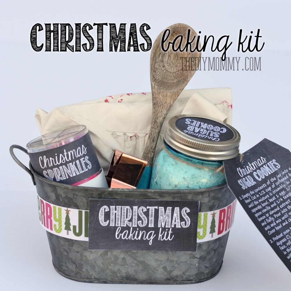 Gift basket idea: A Christmas Baking Kit in a Tin! Put sprinkles ...
