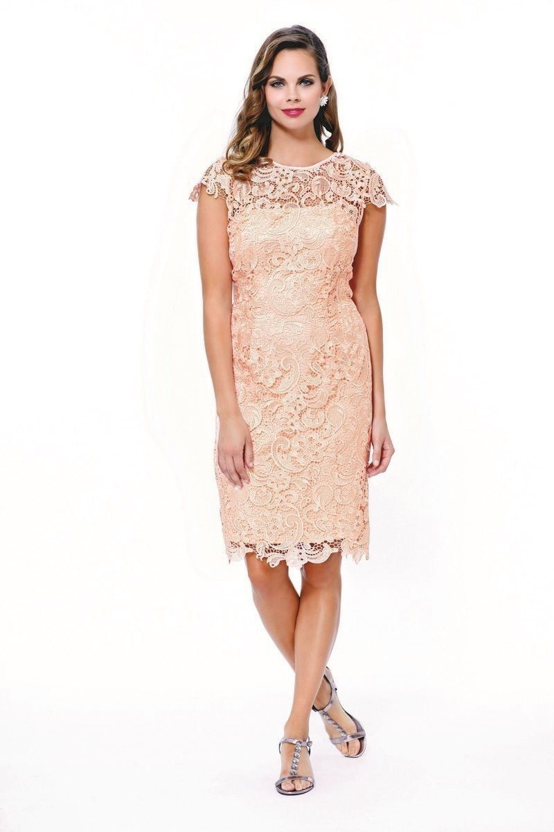 Vintage Lace Short Sleeve Mother of the Bride Wedding Evening ...