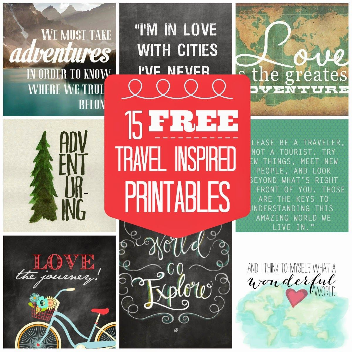 15 FREE Travel-Inspired Printables For Your Gallery Wall