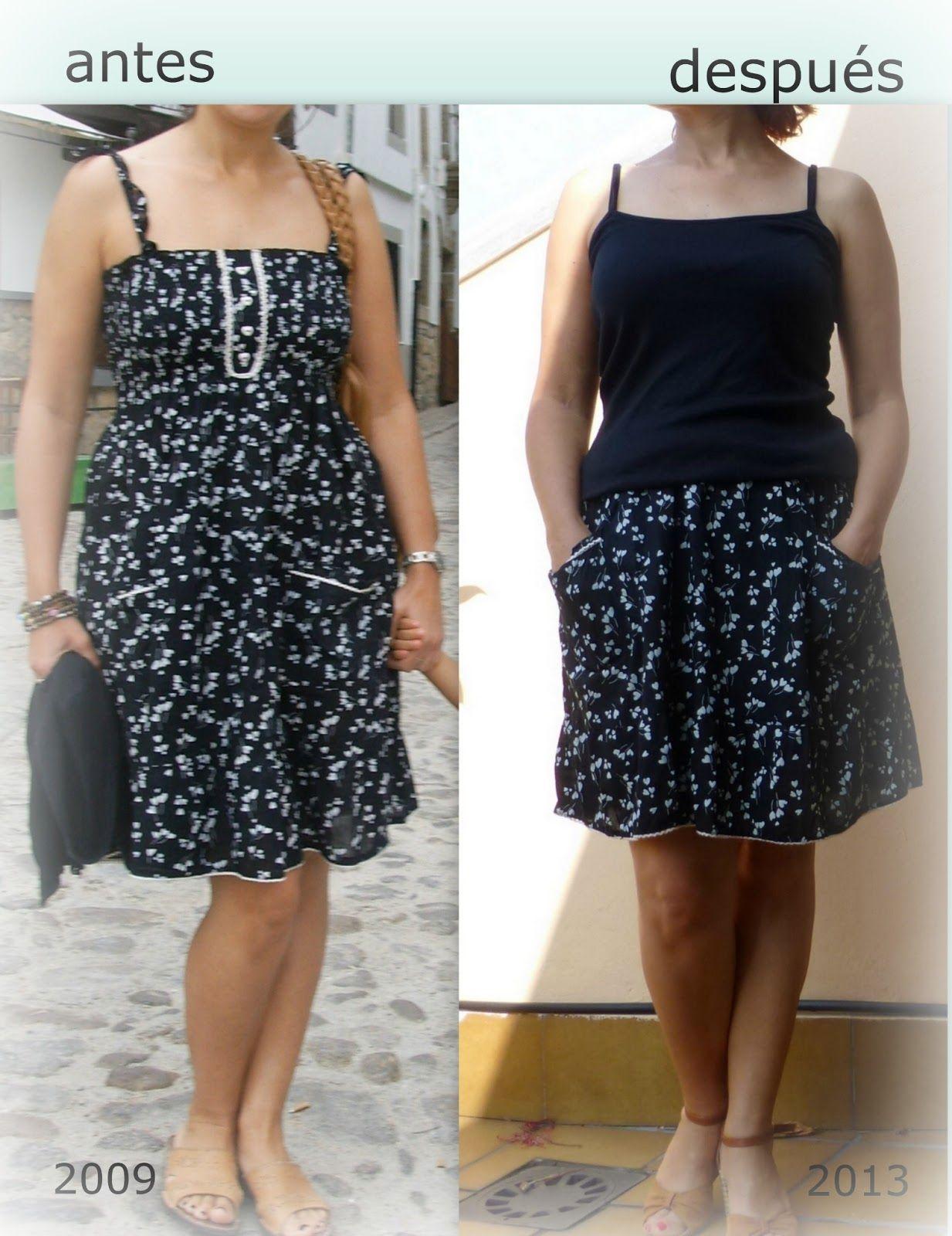6fe86f8f6 reciclar vestidos - | ideas para renovar ropa | Vestidos, Como ...