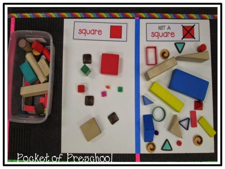 Sorting Real Objects: Square Or Not A Square During Our