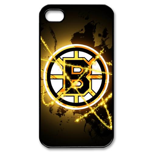Boston Bruins logo iPhone 4 or 4S Plastic Black case cover