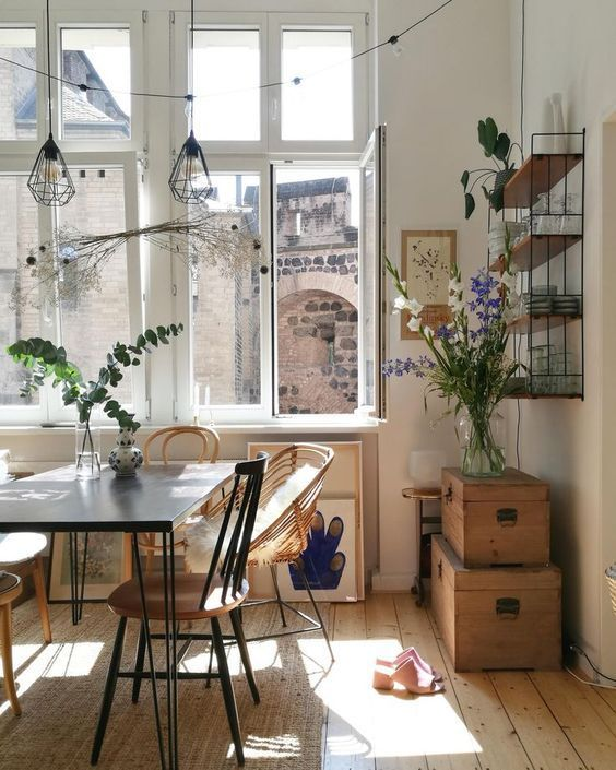 Kuche Esszimmer Sonne Altbau With Images Industrial Interior Style Apartment Decor Apartment Living Room