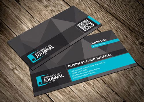 Unique business card template with qr code photoshop pinterest unique business card template with qr code reheart Image collections