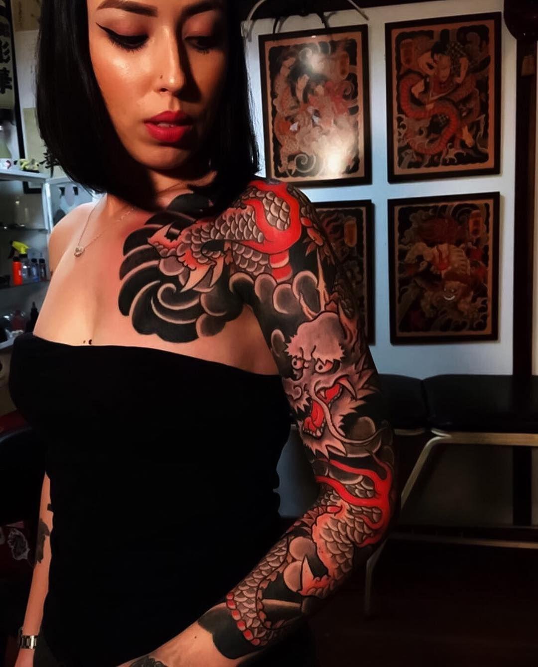 Japanese Ink On Instagram Japanese Tattoo Sleeve By Horihana Japaneseink Japaneset Japanese Tattoo Women Japanese Sleeve Tattoos Sleeve Tattoos For Women