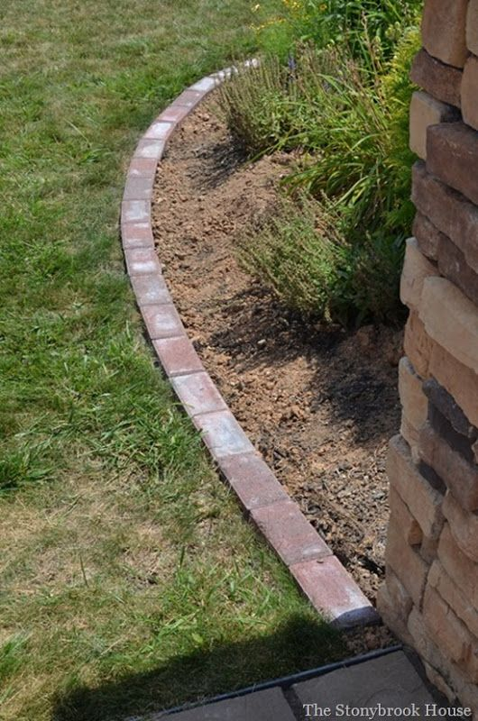 Brick Garden Edging Update Bricks Gardens and Garden edging