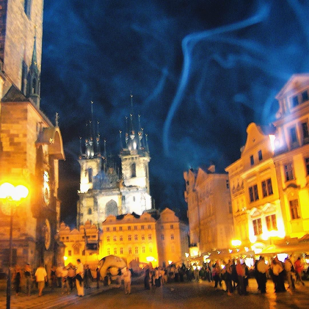 Nighttime #perspective in #Prague #CzechRepublic #Europe @visitczechrepublic | Photo by @socialnomads