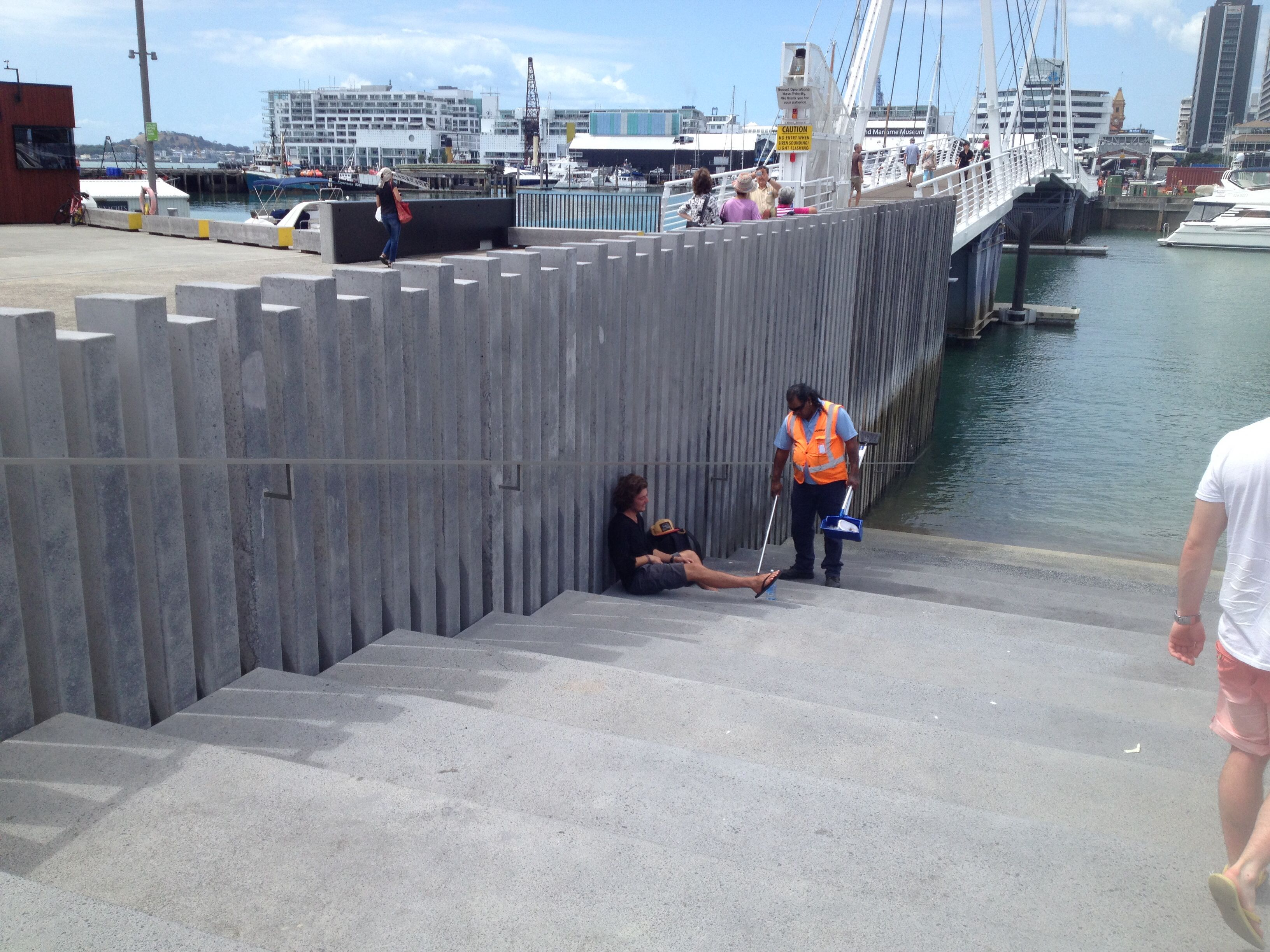 Tidal steps at Auckland Viaduct Harbour