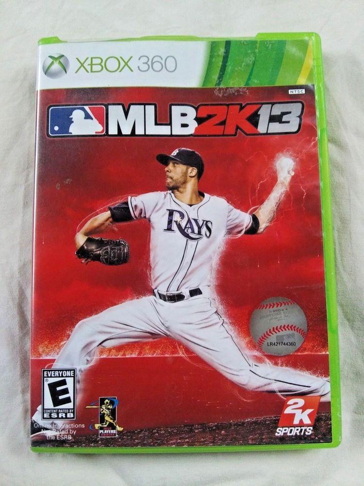 Microsoft Xbox 360 MLB2K13 Baseball Video Game Live 2012