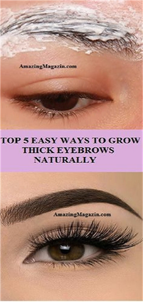 TOP 5 EASY WAYS TO GROW THICK EYEBROWS NATURALLY   Grow ...