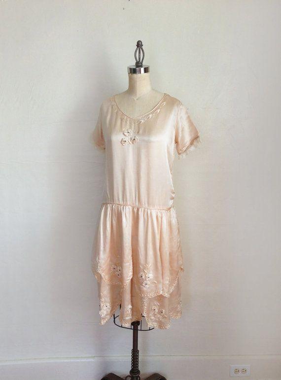 1920er Jahren Hochzeitskleid Kleid / von GuermantesVintage auf Etsy