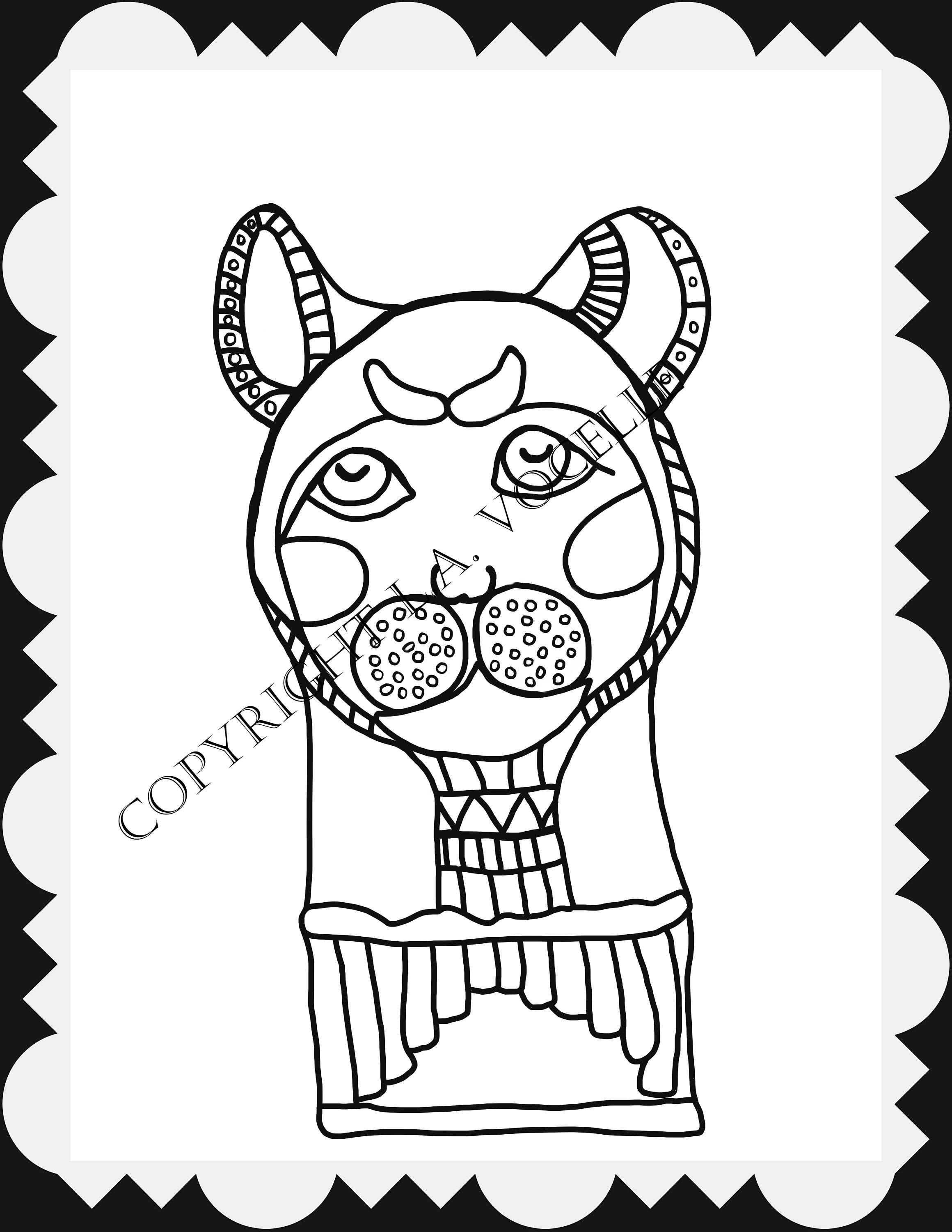 Cat Coloring, Egyptian Cat Coloring pages, Colouring pages, Instant ...