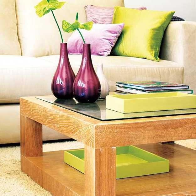Purple, Red And Light Green Color Combinations That Differentiate Modern Living  Room Designs Part 50