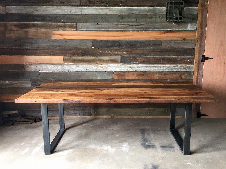 Industrial Modern Dining Table U Shaped Metal Legs What We