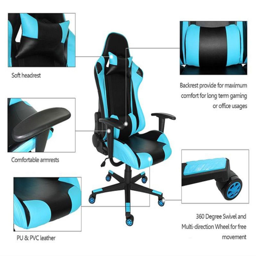 Fabulous Proht Arcade Racing Style 180 Degree Gaming Chair Black And Andrewgaddart Wooden Chair Designs For Living Room Andrewgaddartcom