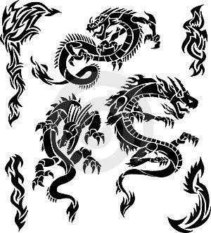 Types of Tribal Dragon Tattoo Designs