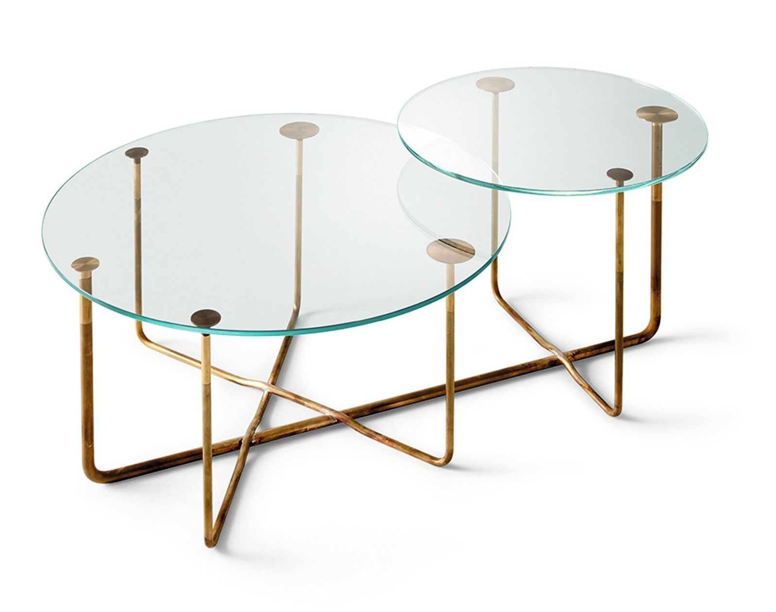 Connection Round Coffee Table By Gallotti Radice Design Massimo Castagna Round Coffee Table Glass Coffee Table Modern Coffee Tables [ 1260 x 1597 Pixel ]