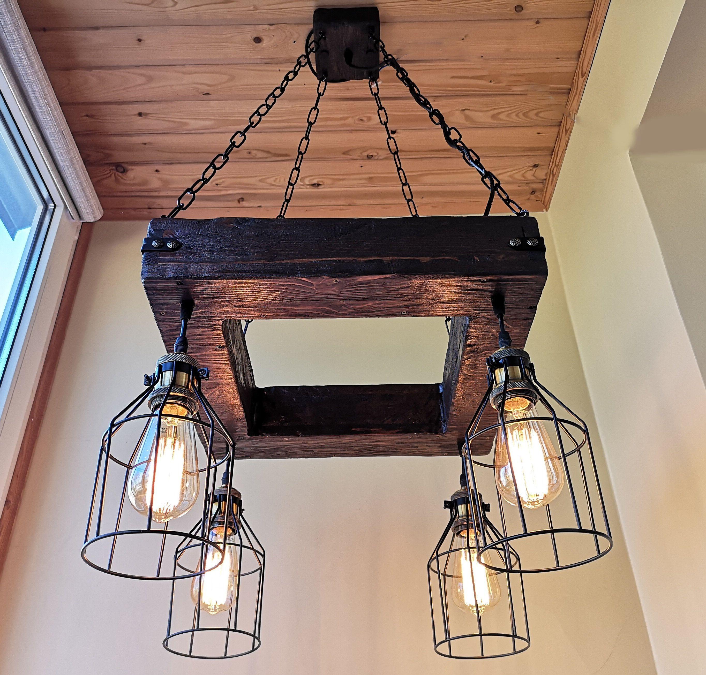 Rustic Chandelier Industrial Modern Lighting Commercial