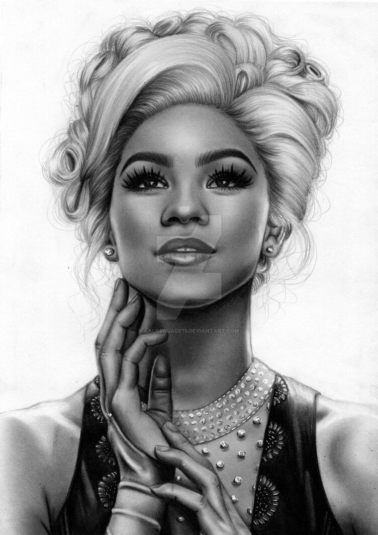 coloring pages of zendaya - photo#44