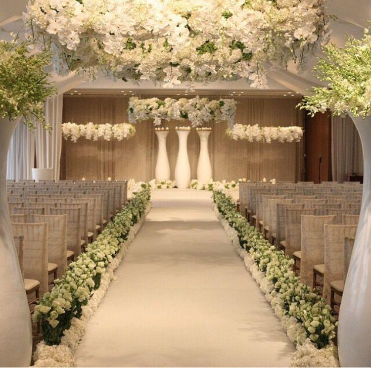Beautiful Indoor Wedding Ceremony: Church Wedding Decorations