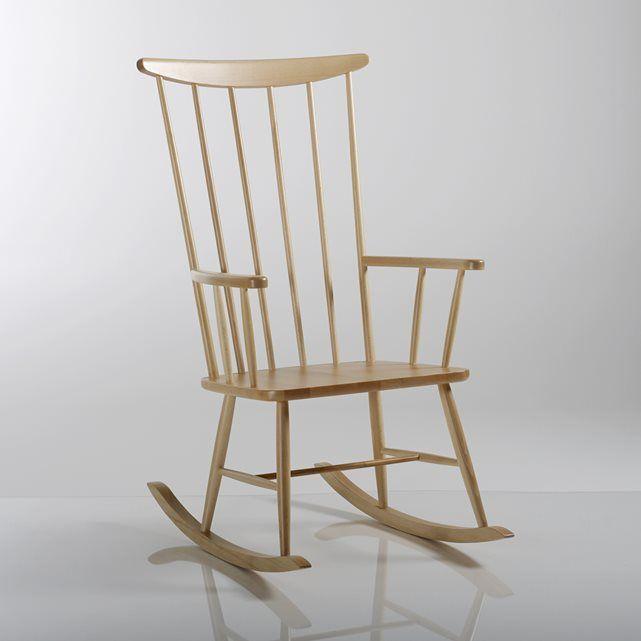 Rocking Chair Hetre Massif Jimi La Redoute Interieurs
