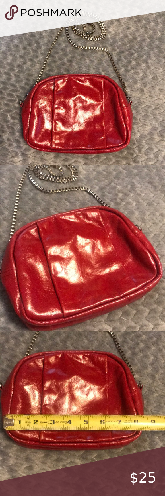 Walter Baker Red Leather Handbag in 2020 Red leather