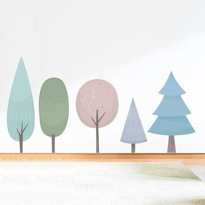 Wallums Wall Decor Pastel Trees Printed Wall Decal | Wayfair