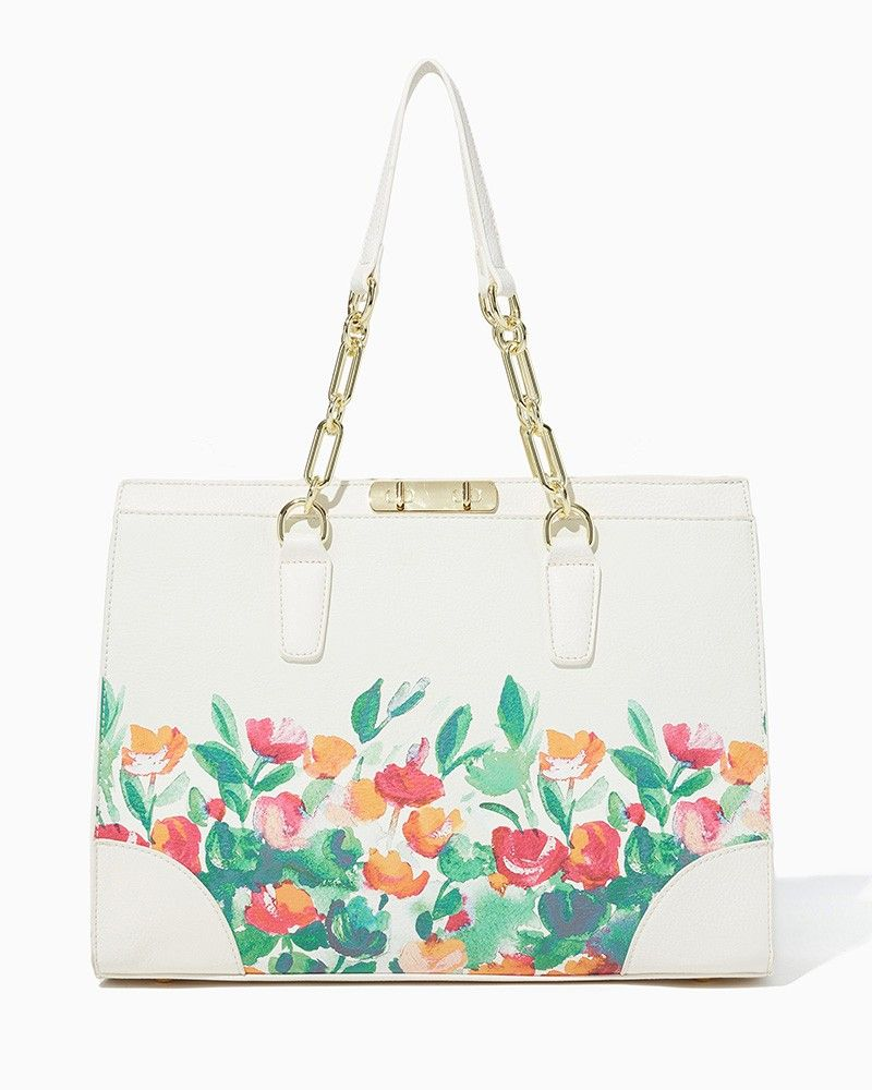 c431b3342 charming charlie | Painted Garden Vegan Leather Satchel | UPC: 400000107271  #charmingcharlie