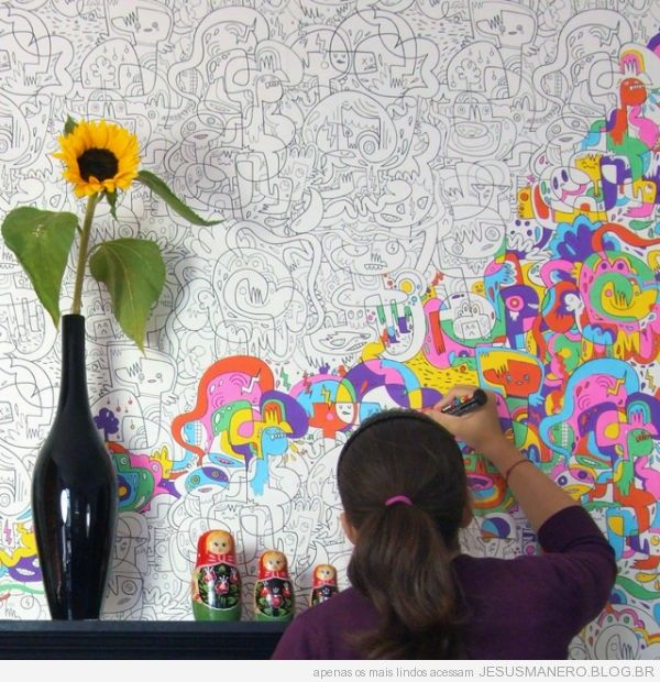Papel de parede para pintar teen bedrooms pinterest - Papel de pared para pintar ...